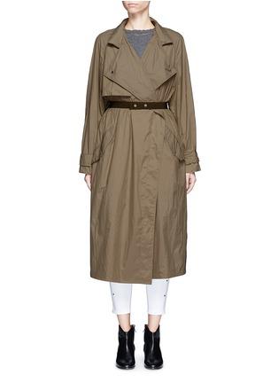 Main View - Click To Enlarge - ISABEL MARANT - 'Dracen' belted nylon raincoat