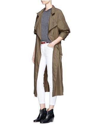 Figure View - Click To Enlarge - ISABEL MARANT - 'Dracen' belted nylon raincoat