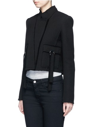 Front View - Click To Enlarge - Proenza Schouler - Ring flap pocket wool jacket