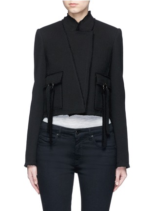 Main View - Click To Enlarge - Proenza Schouler - Ring flap pocket wool jacket