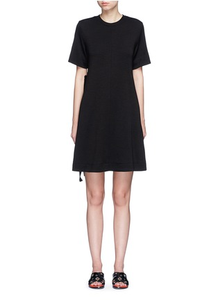 Main View - Click To Enlarge - Proenza Schouler - Side tie double faced wool-cotton jersey flared dress