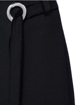 Detail View - Click To Enlarge - Proenza Schouler - Frayed crepe belted skirt