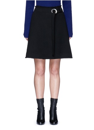 Main View - Click To Enlarge - Proenza Schouler - Frayed crepe belted skirt