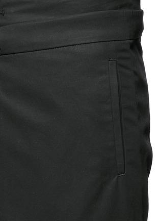Detail View - Click To Enlarge - FFIXXED STUDIOS - Skirt overlay gabardine pants