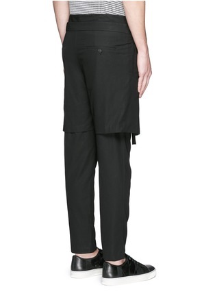 Back View - Click To Enlarge - FFIXXED STUDIOS - Skirt overlay gabardine pants