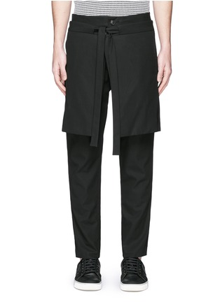 Main View - Click To Enlarge - FFIXXED STUDIOS - Skirt overlay gabardine pants