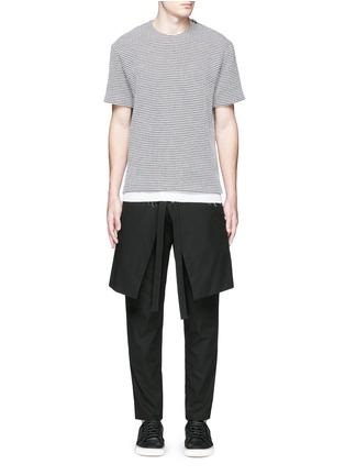 Figure View - Click To Enlarge - FFIXXED STUDIOS - Skirt overlay gabardine pants