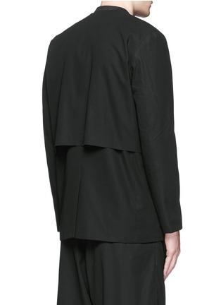 Back View - Click To Enlarge - FFIXXED STUDIOS - 'Composite' overlay V-neck blazer