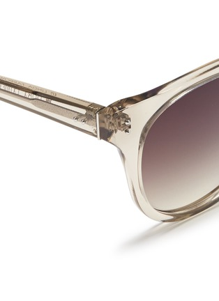 Detail View - Click To Enlarge - Linda Farrow - Acetate D-frame sunglasses