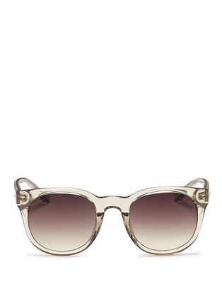 Main View - Click To Enlarge - Linda Farrow - Acetate D-frame sunglasses