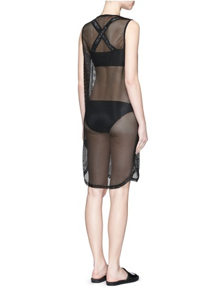 Back View - Click To Enlarge - Beth Richards - 'Pilar' mesh cover-up dress