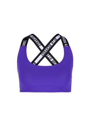 Main View - Click To Enlarge - Beth Richards - 'Masi' logo elastic strap sports bra