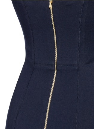 Detail View - Click To Enlarge - COMME MOI - Strapless mermaid gown