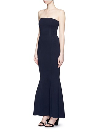 Front View - Click To Enlarge - COMME MOI - Strapless mermaid gown