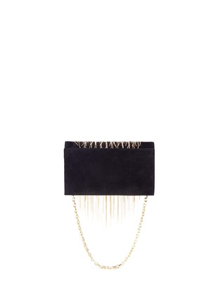 Back View - Click To Enlarge - STUART WEITZMAN - 'Angel Hair' fringe suede chain clutch