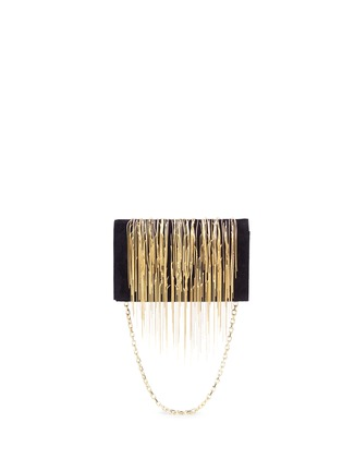Main View - Click To Enlarge - STUART WEITZMAN - 'Angel Hair' fringe suede chain clutch