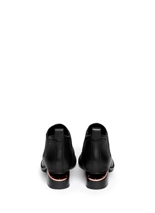 Back View - Click To Enlarge - Alexander Wang  - 'Kori' cutout heel leather Chelsea boots