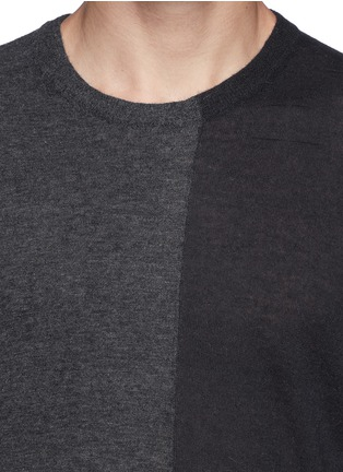 Detail View - Click To Enlarge - T By Alexander Wang - Colourblock alpaca-wool sweater