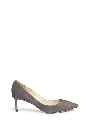 Main View - Click To Enlarge - JIMMY CHOO - 'Romy' suede pumps