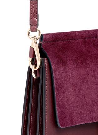 - Chloé - 'Faye' medium suede flap leather shoulder bag