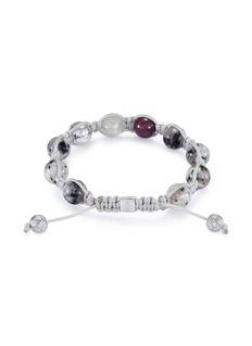 Shamballa Jewels 'Shamballa' diamond ruby granite bead 18k gold bracelet