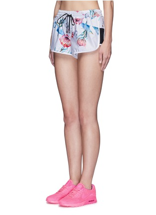 Front View - Click To Enlarge - We Are Handsome - 'The Botanica' print drawstring running shorts