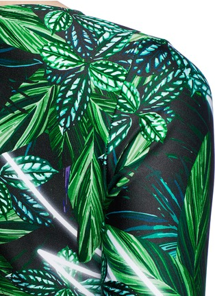 Detail View - Click To Enlarge - We Are Handsome - 'The Retrograde' forest print active crossover top