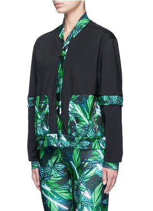 Front View - Click To Enlarge - We Are Handsome - 'The Retrograde' forest print active track jacket