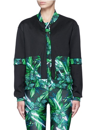 Main View - Click To Enlarge - We Are Handsome - 'The Retrograde' forest print active track jacket