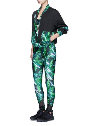 Figure View - Click To Enlarge - We Are Handsome - 'The Retrograde' forest print active track jacket