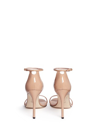 Back View - Click To Enlarge - Stuart Weitzman - 'Nudist Song' ankle strap patent leather sandals