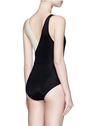 Back View - Click To Enlarge - Solid & Striped - 'The Ballerina' colourblock one-piece swimsuit