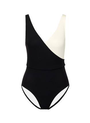 Main View - Click To Enlarge - Solid & Striped - 'The Ballerina' colourblock one-piece swimsuit
