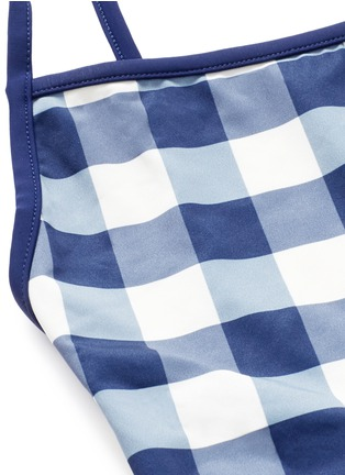 Detail View - Click To Enlarge - Solid & Striped - 'The Poppy' low back gingham check tie swimsuit