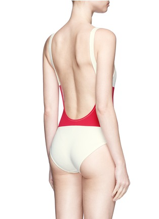 Back View - Click To Enlarge - Solid & Striped - 'The Anne-Marie' colourblock one-piece swimsuit