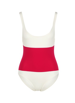 Main View - Click To Enlarge - Solid & Striped - 'The Anne-Marie' colourblock one-piece swimsuit