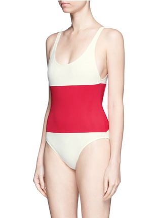 Figure View - Click To Enlarge - Solid & Striped - 'The Anne-Marie' colourblock one-piece swimsuit
