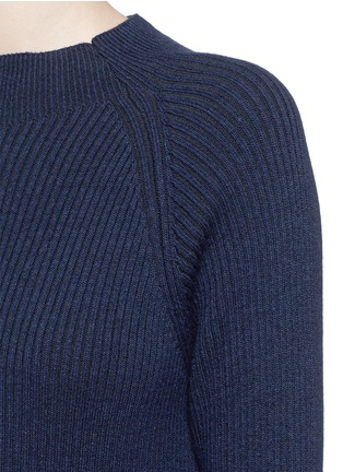 Detail View - Click To Enlarge - LNDR - 'Finn' wool-cashmere rib knit sweater