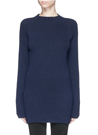 Main View - Click To Enlarge - LNDR - 'Finn' wool-cashmere rib knit sweater