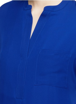 Detail View - Click To Enlarge - Vince - Cap sleeve silk chiffon popover dress
