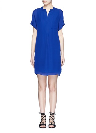 Main View - Click To Enlarge - Vince - Cap sleeve silk chiffon popover dress