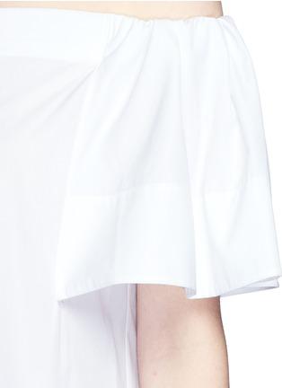 Detail View - Click To Enlarge - Vince - Flutter sleeve off-shoulder shirt dress