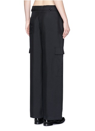 Back View - Click To Enlarge - Helmut Lang - Dupioni silk belted cargo pants