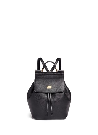 Main View - Click To Enlarge - Dolce & Gabbana - 'Miss Sicily' small grainy leather backpack