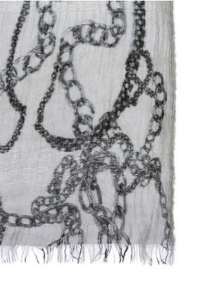 Detail View - Click To Enlarge - Faliero Sarti - 'Chain' print virgin wool-modal-silk scarf