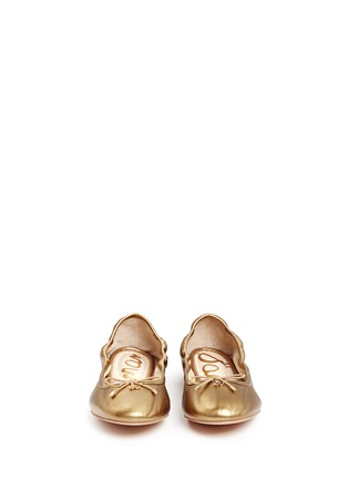 Front View - Click To Enlarge - Sam Edelman - Felicia' metallic leather ballet flats