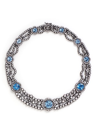 Main View - Click To Enlarge - CZ by Kenneth Jay Lane - Cubic zirconia choker necklace