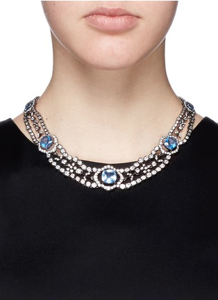 Figure View - Click To Enlarge - CZ by Kenneth Jay Lane - Cubic zirconia choker necklace