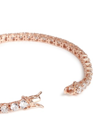 Detail View - Click To Enlarge - CZ by Kenneth Jay Lane - Brilliant cut cubic zirconia tennis bracelet