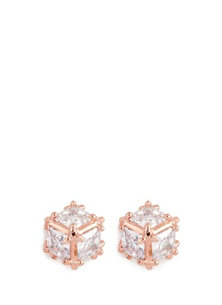 Main View - Click To Enlarge - CZ by Kenneth Jay Lane - Cubic zirconia cube earrings
